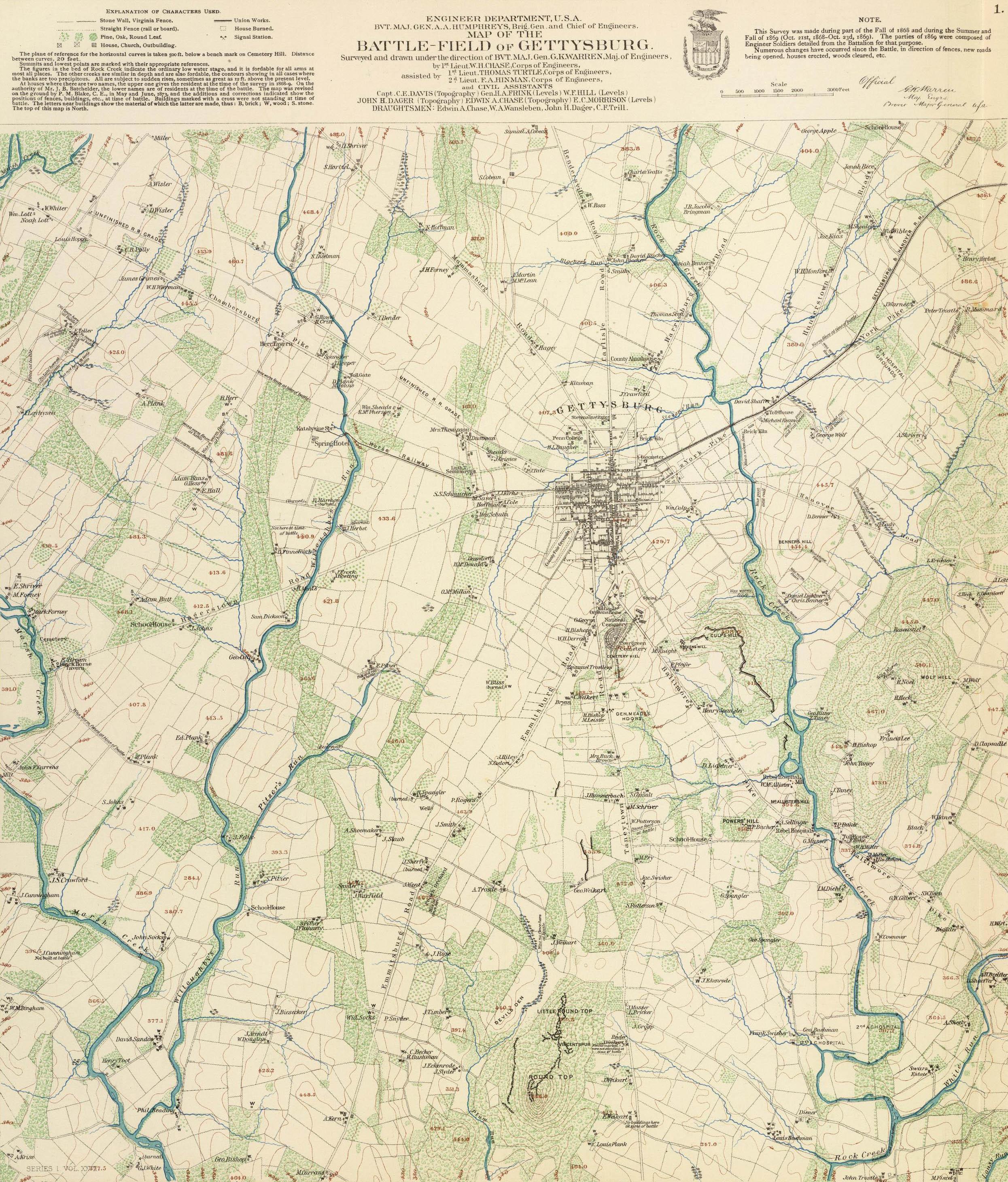 Gettysburg Topographic Map.Gettysburg