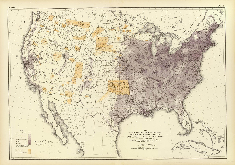 Population Distribution 1870 Click For Larger Image