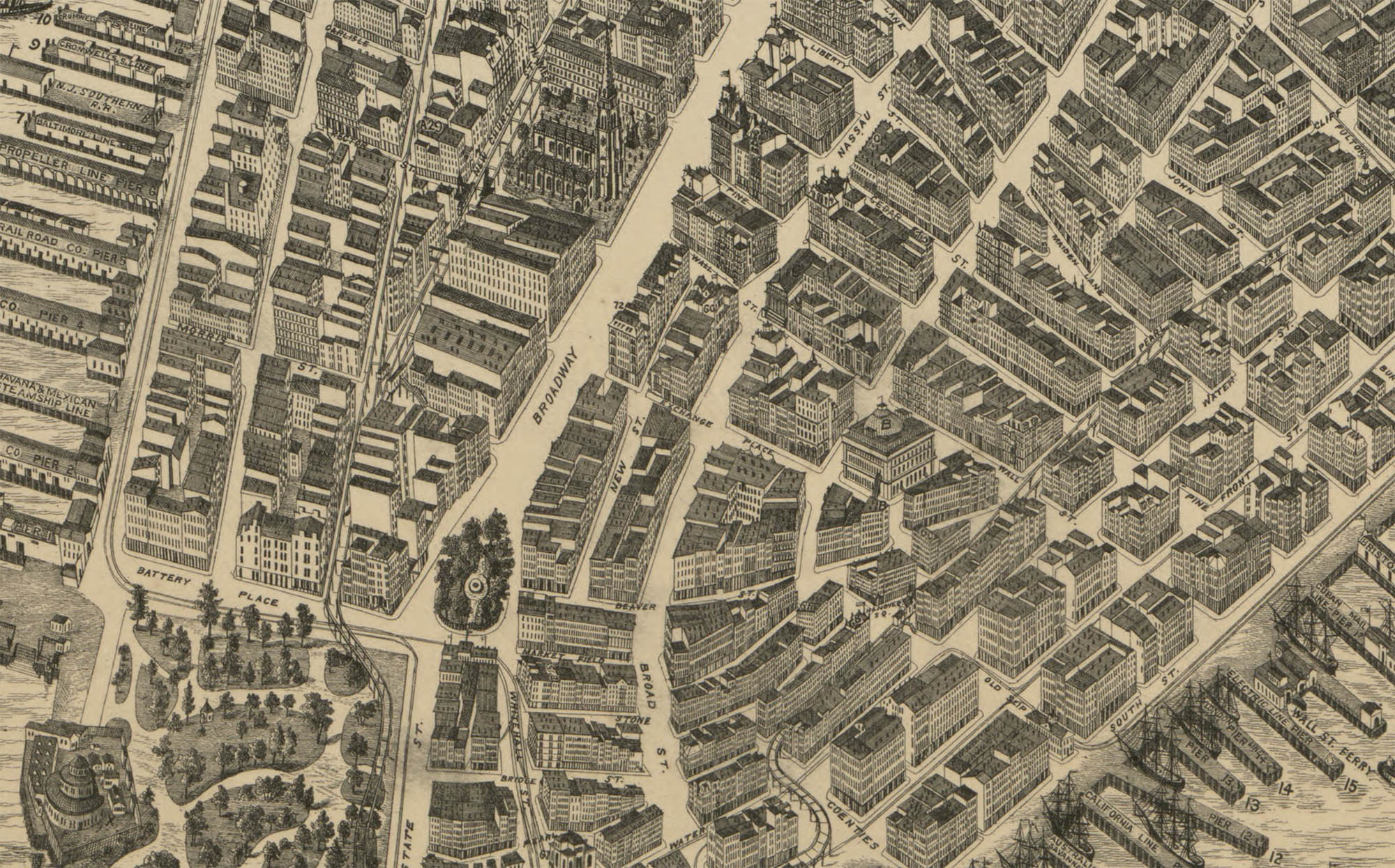 The Streets of New York – Aerial Street Maps