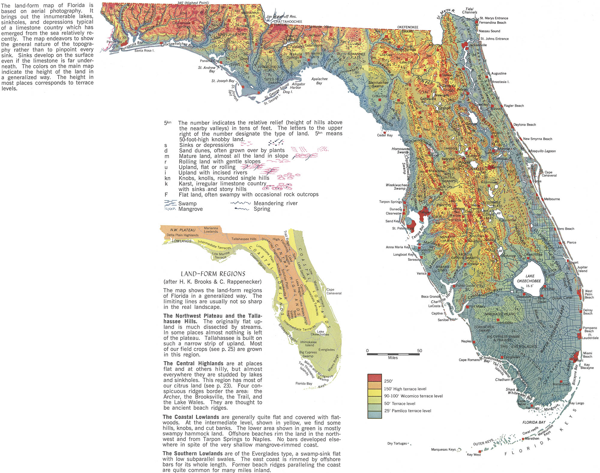 florida map geographical