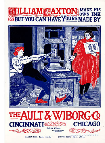 Ault & Wiborg poster ad, click for larger image