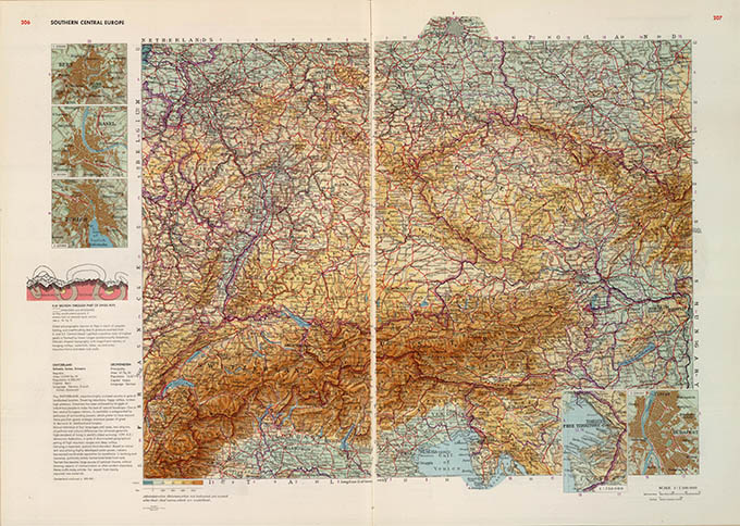 World Geo-graphical Atlas, Central Europe, click for larger image