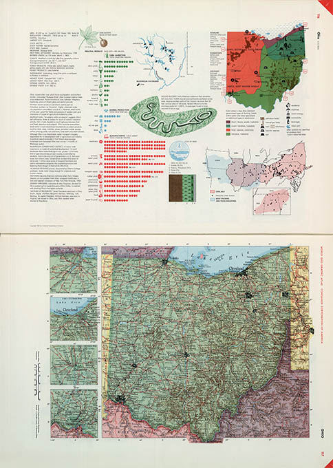World Geo-graphical Atlas, Ohio, click for larger image