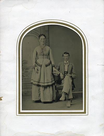Tintype in sleeve, click for larger image