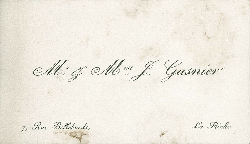 The carte de visite calling card click for larger image french calling card reheart Gallery
