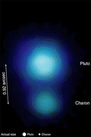 Pluto and Charon, click for larger image