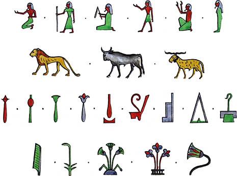 Simple Egyptian Symbols Symbols Ancient Egyptian