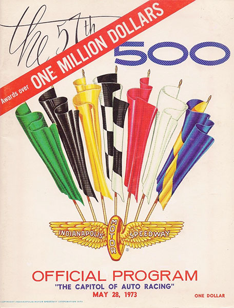1973 official race program