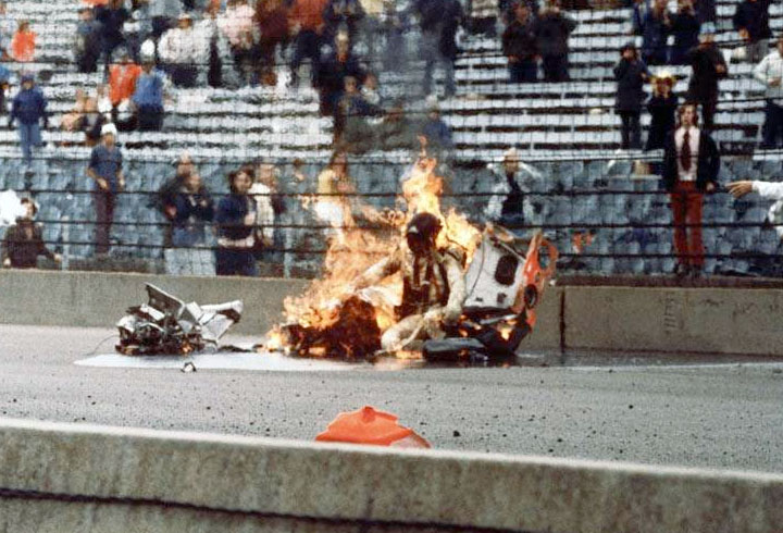 Aftermath of Savage's wreck, May 30th, 1974